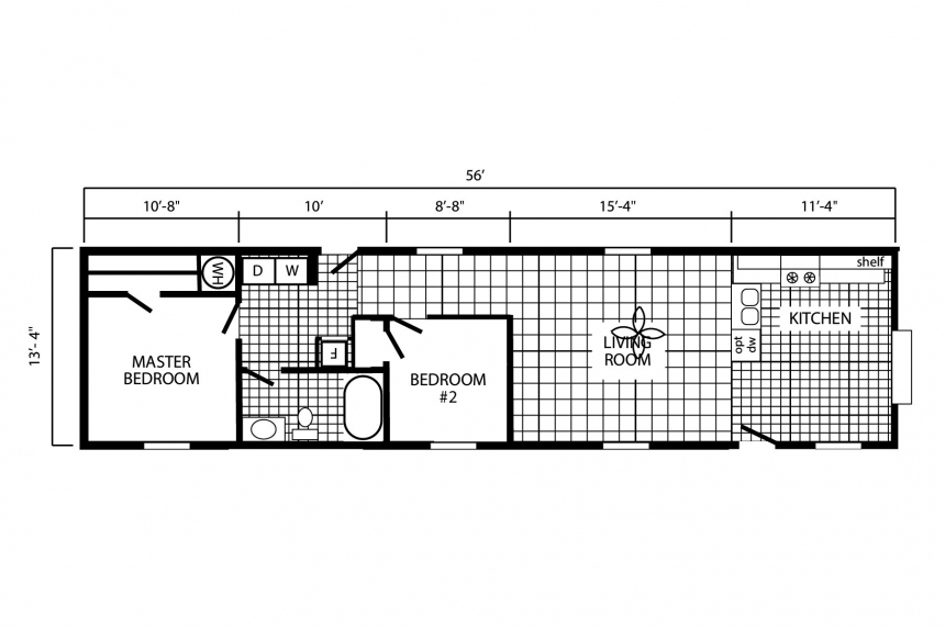 A Floor Plan For The Single Wide Home In Colchester Vermont