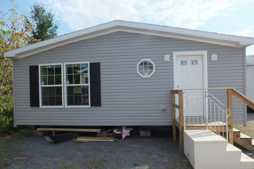 Photo Of Double Wide Home 5225-508 Gray Exterior Rear