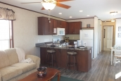 Photo Of Single-Wide Home F-44831 Furnished Living Area Looking Into Kitchen