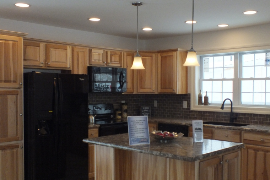 A Photo Of 283 Stock Model Modular Home Kitchen With Refrigerator