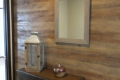 Photo Of Double Wide Home 302 Stock Model Wall With Wood Paneling And Mirror