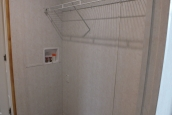 A Photo Of 98 Stock Model Single Wide Home Closet With Wire Shelving