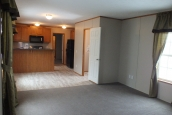 Photo Of Single Wide Home 294 Stock Model Unfinished Living Area
