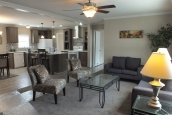 A Photo Of Stock Model 296 Double Wide Home Furnished Living Room