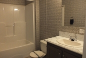 A Photo Of Stock Model 296 Double Wide Home Bathroom Sink And Tub
