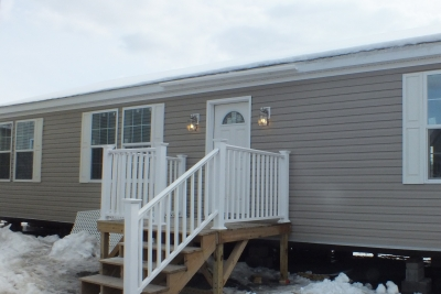 A photo of three bedroom modular ranch house 297.
