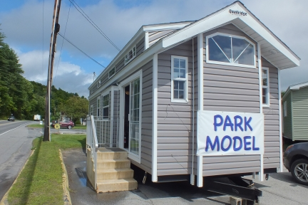 Park Model 3 manufactured home brown exterior in Vermont