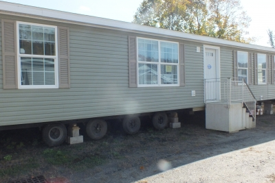 Photo Of Double Wide Home 303 Stock Model Gray Exterior