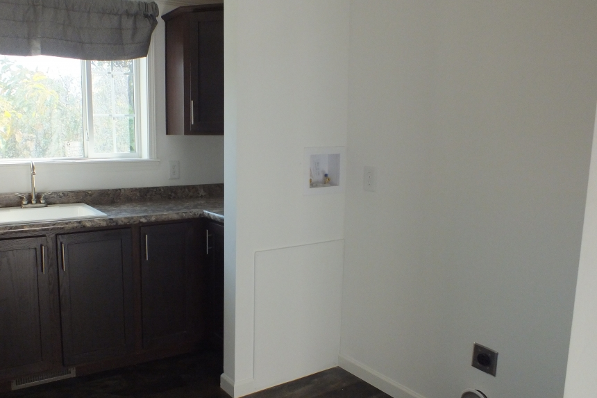 Photo Of Double Wide Home 303 Stock Model Kitchen Seen From Living Room