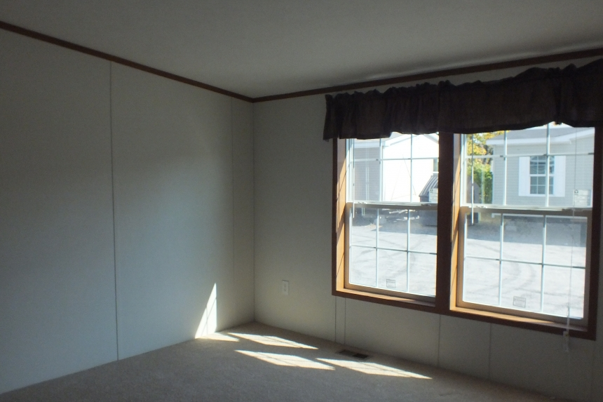 Photo Of Double Wide Home 304 Stock Model Unfurnished Bedroom With Two Bright Windows