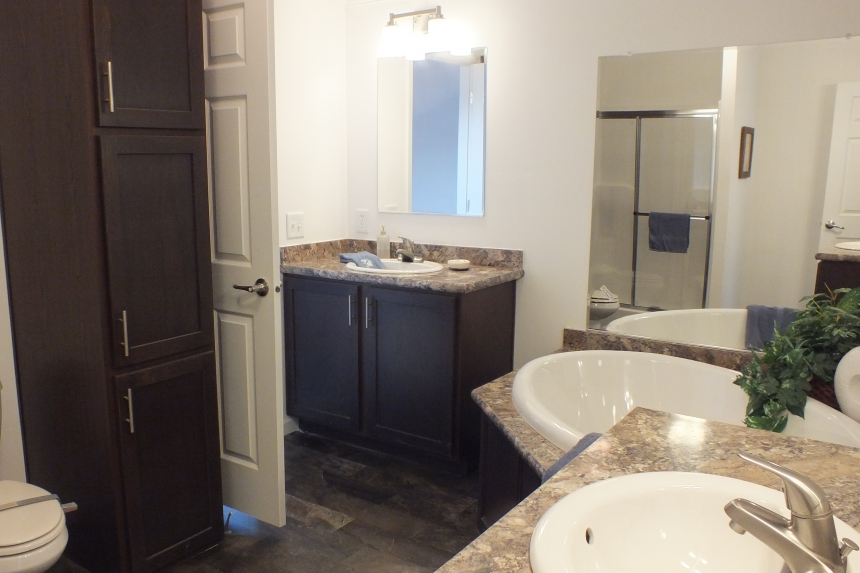 Photo Of Double Wide Home 303 Stock Model Bathroom Panorama