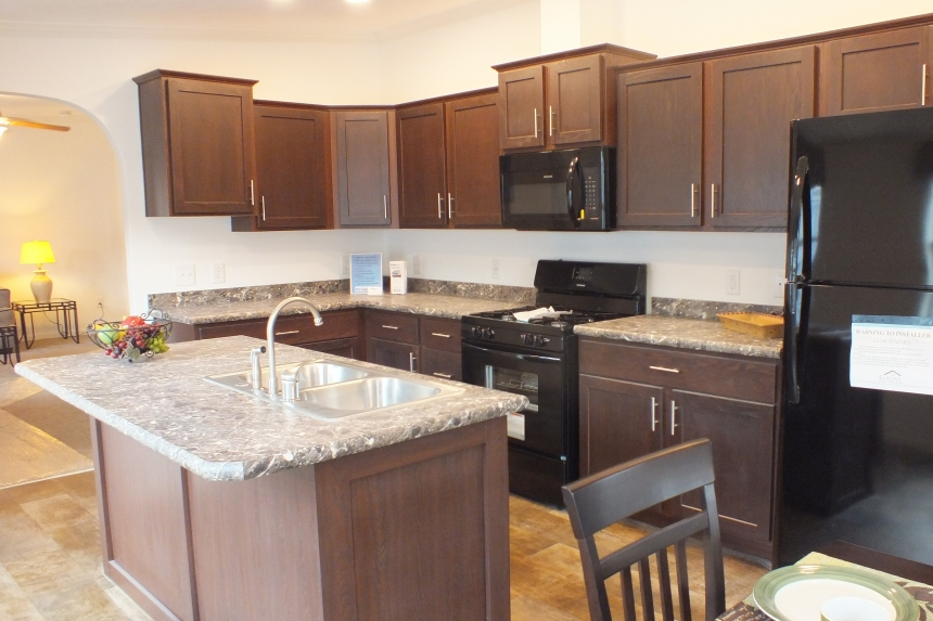 Photo Of Double Wide Home 303 Stock Model Bright Kitchen With Island