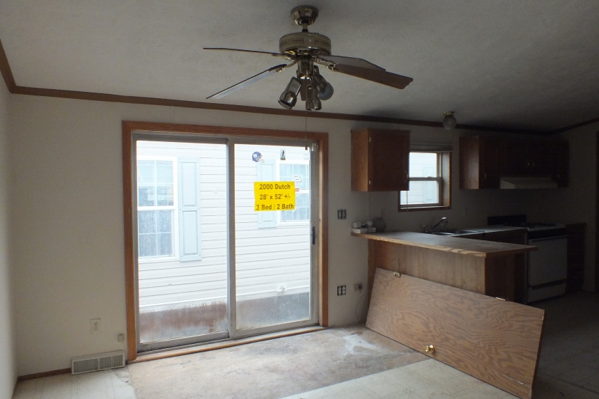 Photo Of Double Wide Home 2000 Dutch Large Sliding Door And Ceiling Fan