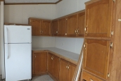 Photo Of Double Wide Home 2000 Dutch Kitchen With White Refrigerator And Wood Cabinets