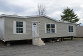 A Photo Of Stock Model 296 Double Wide Home Beige Exterior
