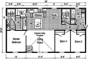 Floor Plan Of Double-Wide Home On Lot 77 Lisa Drive Barre Town Vermont