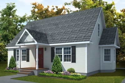 Rendering Of Model Cape Acadia White Exterior