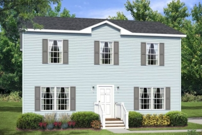 Rendering Of Featured Modular 2-Story Le-210 Blue Exterior