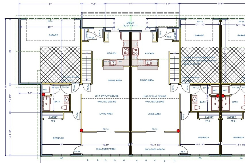Floor Plan For Mansfield Lane Townhouses In Berlin Vermont