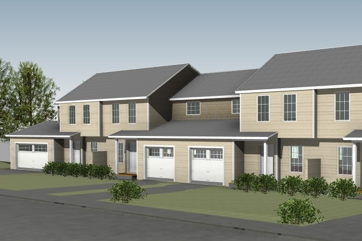 Rendering Of Mansfield Lane Townhouses In Berlin Vermont Tan Exterior