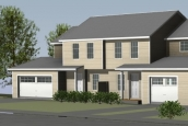 Rendering Of Mansfield Lane Townhouses In Berlin Vermont Tan Exterior With Garage
