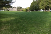 Photo Of Double-Wide Home Package On Lot 77 Lisa Drive Barre Town Vermont Grass With Trees Looking Onto Neighboring Structure