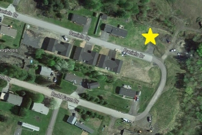 A Satellite Map Showing The Site At Lot 10 Daniels Drive, Barre Town Vermont For A Modular Or Double Wide Home