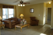 Photo Of Double Wide Home 5228-405-1 Furnished Living Room With Ceiling Fan