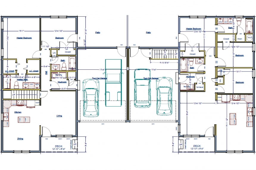 A Floor Plan For Two Units Of The Becky Hill Condos