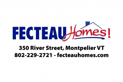 The Fecteau Homes logo including address and phone number.